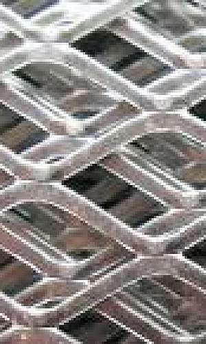 Chapa expandida aço inox