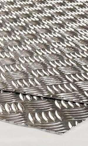 Chapa xadrez de alumínio