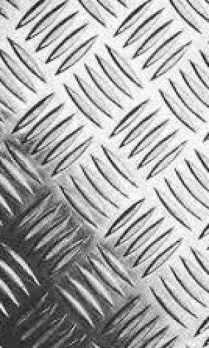 Chapa xadrez recalque de alumínio