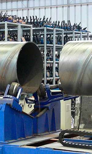 Fábrica de tubos de aço