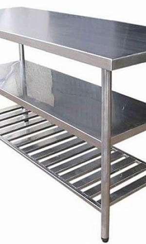 fabricante de mesa em aço inox