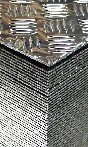 Preço chapa xadrez de alumínio